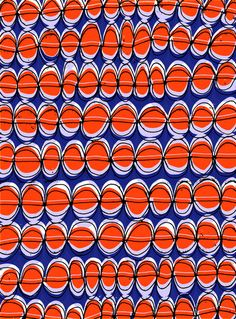 Hand Drawn and Digital Orange/Blue Pattern - Sarah Bagshaw