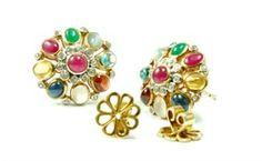 Nine Stone Earring or Navaratna Earring