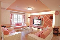 Hello Kitty Hotel.. Cool!  Look at the Decoration in this room..