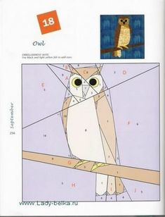 """Photo from album Foundation Quilt Blocks"""" on Yandex. Mini Quilts, Owl Quilts, Animal Quilts, Paper Pieced Quilt Patterns, Quilt Block Patterns, Foundation Paper Piecing, Patch Quilt, Vogel Quilt, Bird Quilt Blocks"""
