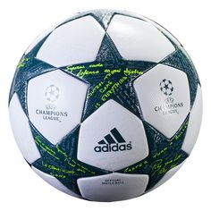 """adidas Finale Official Match Ball - adidas asked UEFA Champions League legends the question: """"how do you win your way?""""  Their handwritten answers are featured and forever preserved on the new adidas Champions League ball for the group stages of the 2016-17 season. Channeling the competitive spirit of the Champions League, the ball seeks to instil winning inspiration on field. # Soccer #Jersey #Athletes #Ball #Fans"""