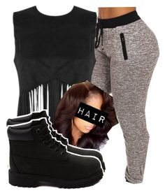 """""""•"""" by kinginnnn ❤ liked on Polyvore featuring Timberland"""