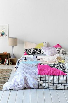 Assembly Home Pattern Block Duvet Cover - Urban Outfitters.