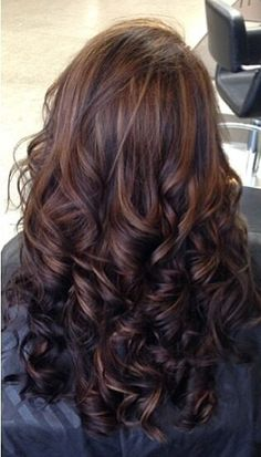 Different shades of brown hair color.