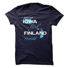 WorldBlue Iowa-Finland Girl - T-Shirt, Hoodie, Sweatshirt