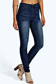 Lisa Super High Waisted Classic Skinny Jeans