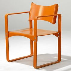 Verner Panton for Thonet: Metal enameled armchair