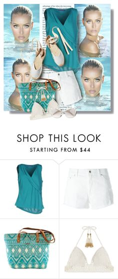 """""""Fun in the sun"""" by fashion-architect-style ❤ liked on Polyvore featuring Blue Les Copains, Dondup, Soludos, SHE MADE ME and Chloé"""