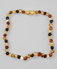 Take a look at this Natural Round Amber Teething Necklace by Momma Goose on #zulily today!