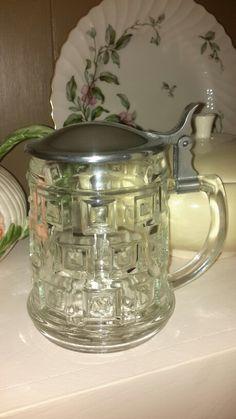 Cut glass tankard