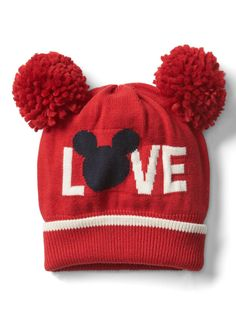 d774069525f babyGap Disney Baby Mickey Mouse pom-pom hat NWT SMALL MEDIUM N4  fashion