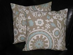 SUZANI decorative throw pillows set of Two by LittlePeepsHomeDecor, $34.00