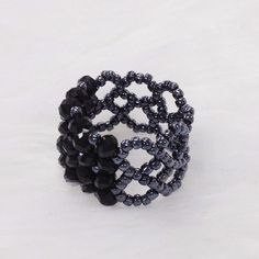 Crystal bead ring