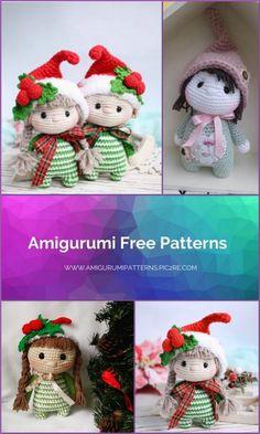 Amigurumi Elf Dolly Free Crochet Pattern - Amigurumi Patterns Pic2re Crochet Patterns Amigurumi, Amigurumi Doll, Free Crochet, Crochet Hats, Elf, Free Pattern, Crafty, Dolls, Christmas Ornaments