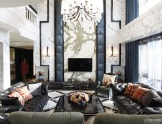 Southeast Asian Classical Style Living Room TV Background Wall Renderings   2014 Interior Designs
