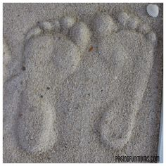 Sand Glue Craft | Sand Footprint Craft – Full DIY instructions. (Louise) |