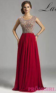 Floor Length Open Back Dress by Lara Designs at PromGirl.com
