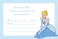 Convite Cinderela …