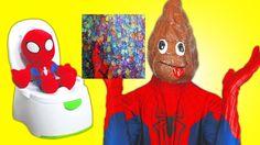 Spiderman & Spiderbaby making rainbow orbeez shower w/ Fun Superhero  in... http://www.superheroesfunny.com/