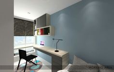 Study area in guest room