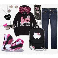 Hello Kitty Outfit  #hellokitty #jordan #justice