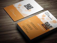 Creative Orange Business Card by bouncy on Creative Market