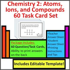 Atoms periodic table dominoes game test review vocab words 5 6 7 8th chemistry task cards introduction to periodic table atoms molecules and ions urtaz Images