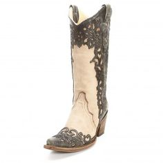 Corral Bone Laser Overlay Cowgirl Boots - Cowgirl Boots - Boots #Cowboy Cupid Be Mine