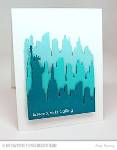 Adventure is Calling, New York Skyline Die-namics - Amy Rysavy  #mftstamps