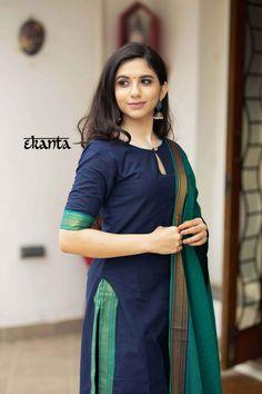 Silk Kurti Designs, Simple Kurta Designs, Churidar Designs, Kurta Designs Women, Kurti Designs Party Wear, Blouse Designs, Chudidhar Neck Designs, Indian Fashion Dresses, Indian Designer Outfits