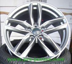 "pack jantes new look Audi rs6 pour A3 A4 anthracite/polish 18""pouces"