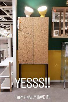 sammanhang-cabinet-cork ikea - I could DIY my dining room cabinets in cork? Ikea Cork, Ikea I, Cork Wall, Making Space, Ikea Cabinets, Cork Flooring, Furniture Decor, Home Goods, Interior Design