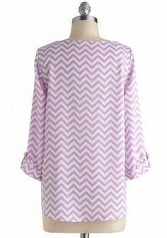 Zoom Bisou Top in Zigzag, #ModCloth