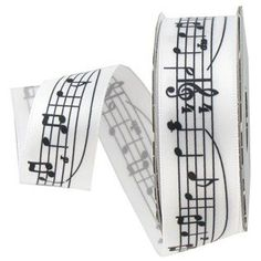 Amazon.com: Satin Music Note Ribbon - 7/8in Wide - 5 Yards