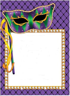 .printable border Shrove Tuesday Activities, Powerpoint Clip Art, Free Printable Stationery, New Orleans Mardi Gras, Mardi Gras Party, Christmas Frames, Masquerade Party, Scrapbook Paper Crafts, Scrapbooking
