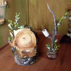 Fairy Furniture Toilet with Bluebird by Torisaur, via Flickr