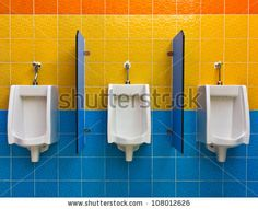Foolproof Stain Removal Tricks for Every Kind of Stain Urine Stains, Public Bathrooms, White Tiles, Bathroom Cleaning, Color Tile, Wall Colors, Sink, Colorful, Home Decor