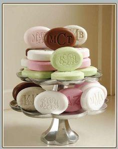 Monogrammed soap
