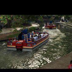 San Antonio River Walk barges, 2010.