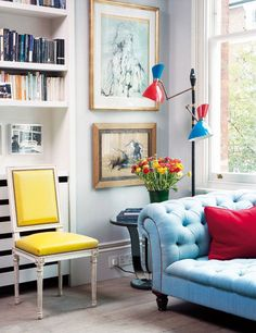 tufted furniture= my favorite. and the colors are so cute