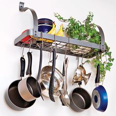 Rack It Up Pot Rack at QCIdirect.com, I bet this could be made at home with some recycled metal if you have the right tools