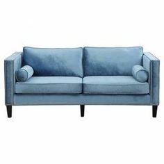 how about a blue velvet sofa?!