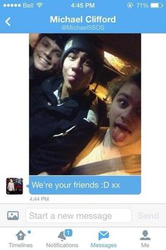 Another reason to love Mikey...he dmed this to a fan who said she didn't have any friends