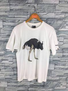 e83f7cd0 A BATHING APE Tshirt Medium Nigo Party Hip Hop Japan Bape Felicitee Bathing  Ape Animal Art Cow White T shirt Size M
