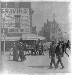 Washington, D.C. street scene, corner of Pennsylvania Ave. and 14th(?) St. looking east showing George Prince photo studio. 1889. Library of Congress.