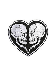 Skull Love Iron-On Patch,