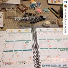 Happy to see you're back to planning and with our awesome #washi! @whatwouldcarriecraft with @repostapp.  After 4 long empty weeks in my planner this feels so good!