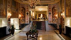 The entry to the Westin Palace Hotel, Madrid, Spain