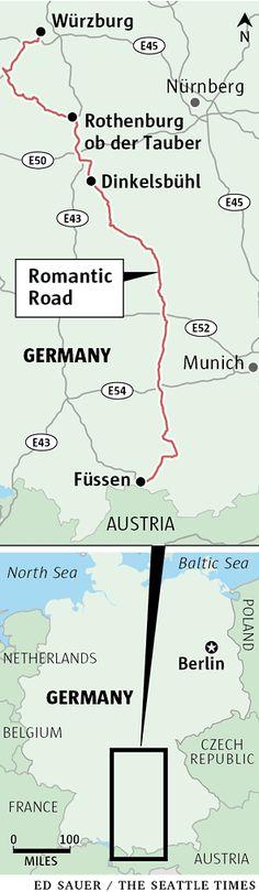 Driving Germany's Romantic Road.  Frankfurt--->Munich
