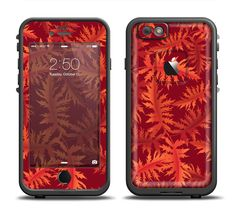 The Vector Fall Red Branches Apple iPhone 6/6s Plus LifeProof Fre Case Skin Set from DesignSkinz